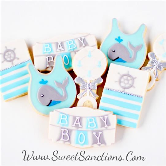 Nautical Baby Cookie Set