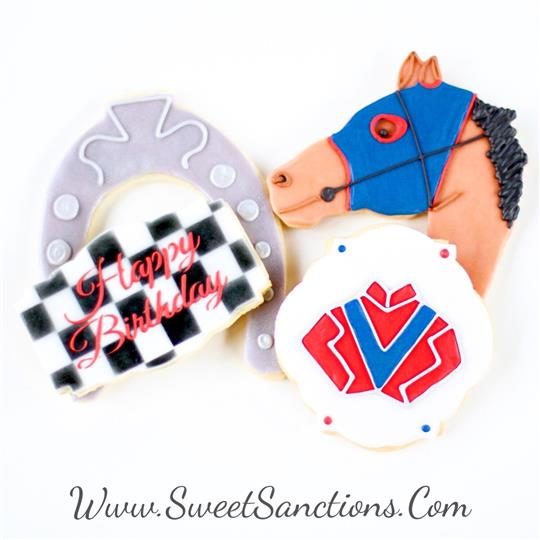 Birthday Racehorse Jockey Cookie Set