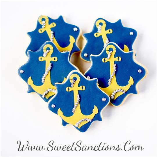 Anchor Plaque Cookies