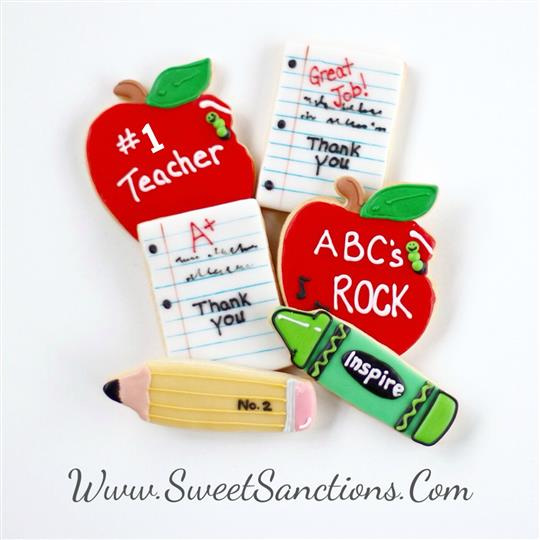 Teacher Themed Cookies