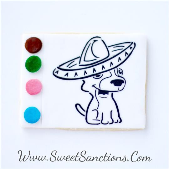 Chihuahua Fiesta Paint Your Own COokies