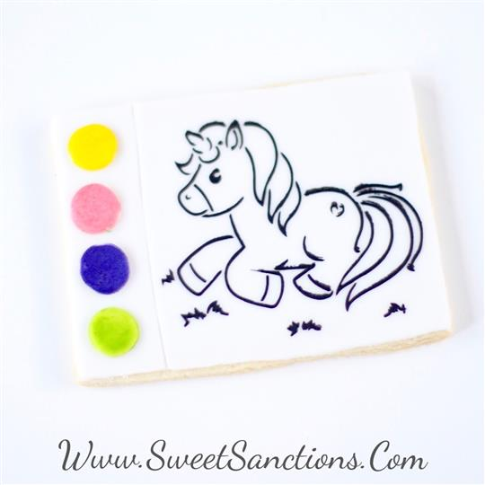 Unicorn Paint Your Own Cookies