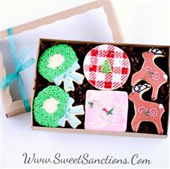 Rustic Christmas Gift Boxed Cookies