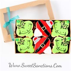 Grinchiest Christmas Santa Gift Boxed Cookies