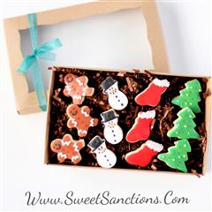 mini christmas gift boxed cookies