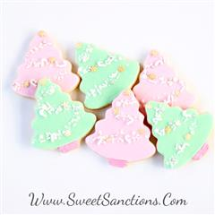 Pastel Evergreen Cookies