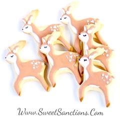 Lady Deer Cookies