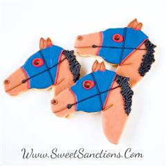 Racehorse Head Cookies