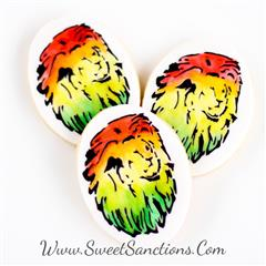 Rasta Lion Cookies