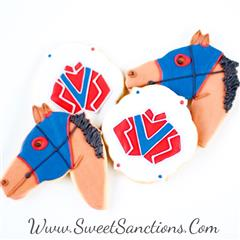 A Jockey's Racehorse Cookie Set