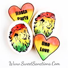 One Love Rasta Lion Cookie Set