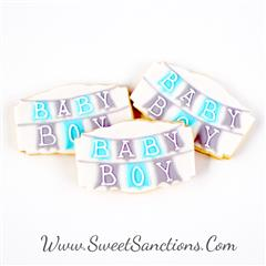 Baby Boy/Girl Banner Cookies