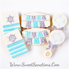 Nautical Baby Banner Cookie Set