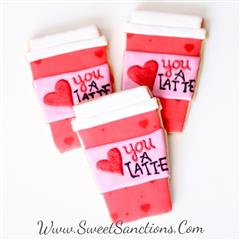 love you a latte cookies