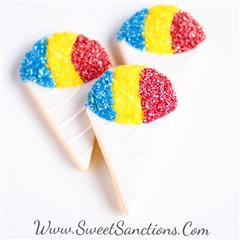 snow cone cookie