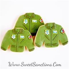 fighter jacket pilot cookies