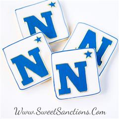 Navy logo cookies