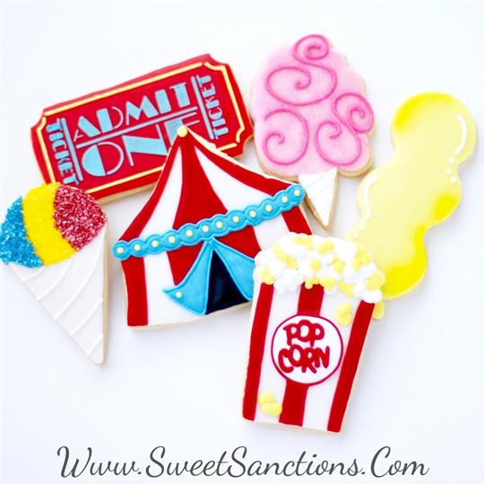 Circus Themed Cookie Set