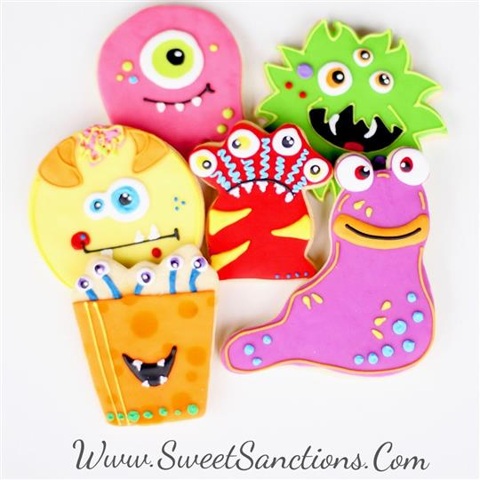 Silly Monster Cookie Set