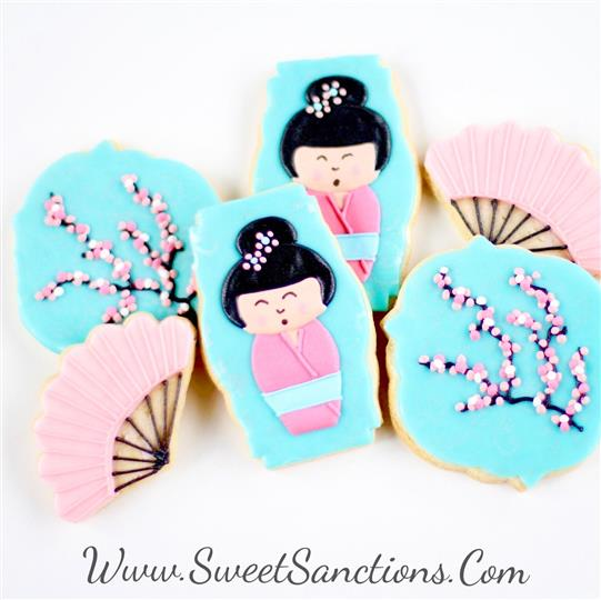 Geisha Girl Cookie Set