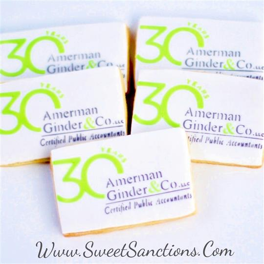 Amerman, Ginder & Co. Accounting Logo Cookies