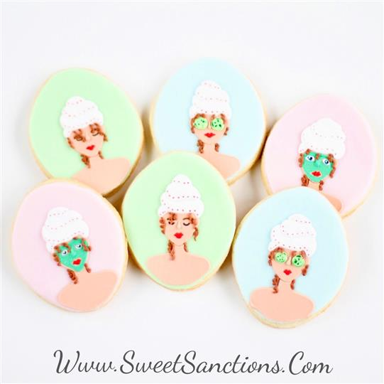 Spa Face Cookies