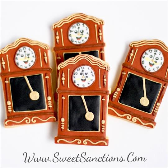 Grandfather Clock Cookies