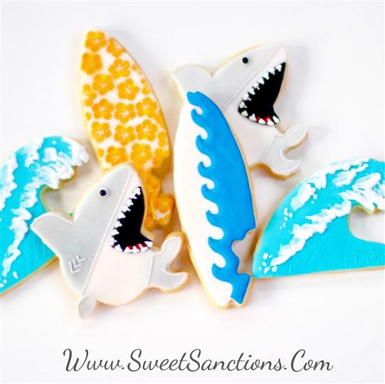Surf, Wave and Shark Cookie Set