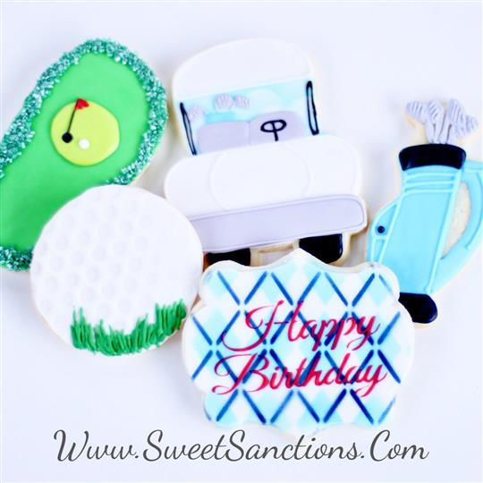 Golf Birthday Cookie Set