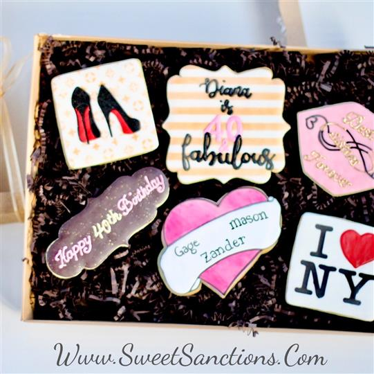 New York 40th Bday Cookies