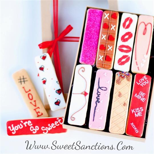 8 Pc. Valentine's Day Cookie Stick Boxed Gift Set