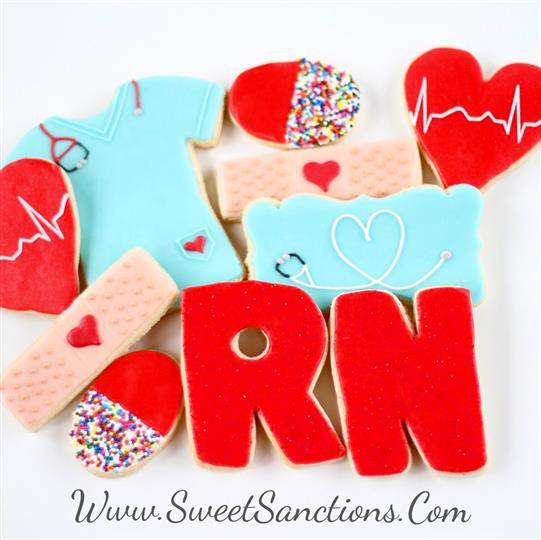 Nurse Love RN EXPANDED Cookie Set
