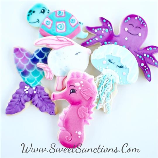 Whimsical Sea Creatures Cookie Set