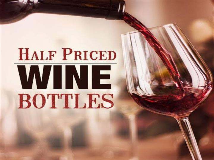 Half Priced Wine bottles