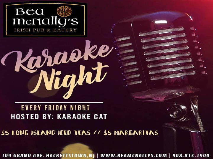 Karaoke Night poster for every friday night