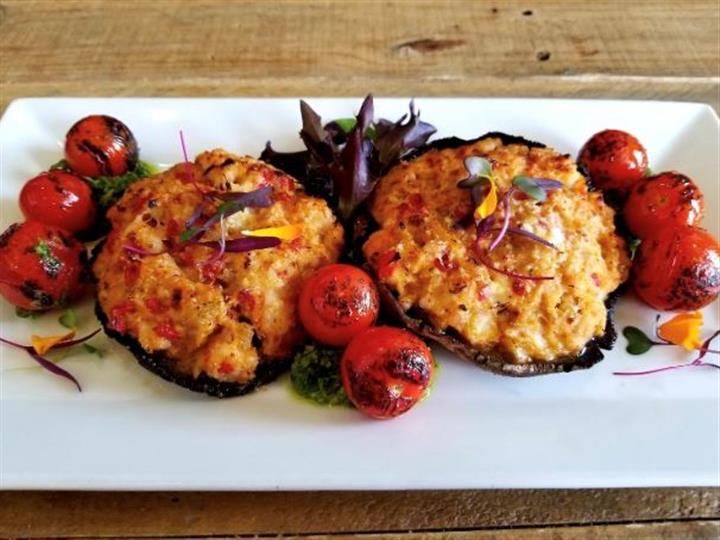 two stuffed clams
