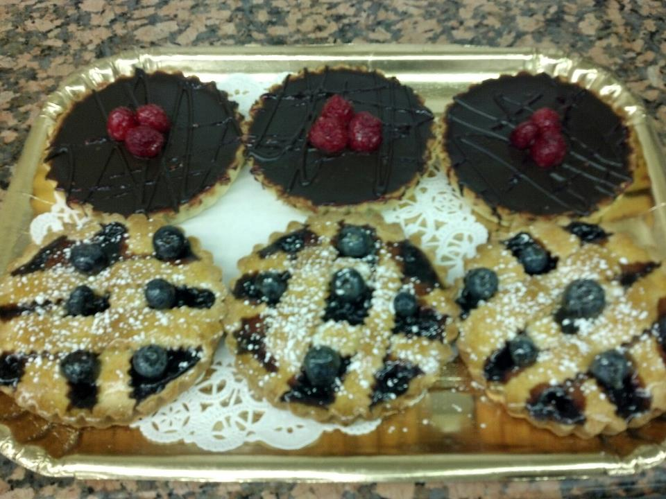 assorted tarts on a tray