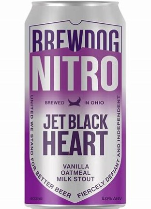 BREW DOG NITRO JET BLACK HEART, STOUT