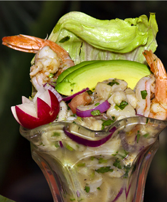 ceviche in a glass