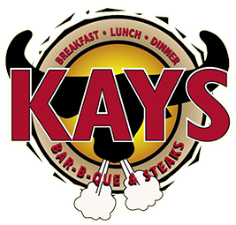 Kay's Bar-B-Que & Steaks. Breakfast, Lunch, Dinner