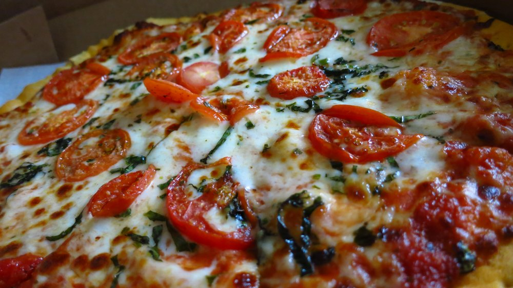 Whole Margherita pizza