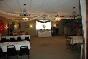Multiple tables set up in a dining area