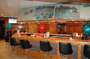 Bar with bar stools and