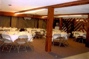 Dining area with chairs set up identically
