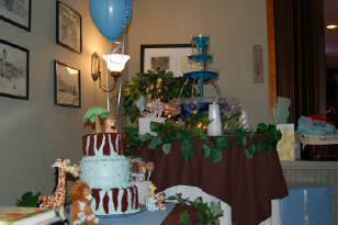 Cake on a table for an event.