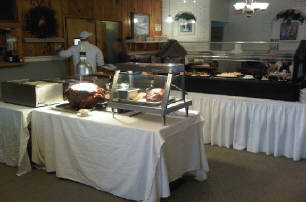 Catering table with food on it