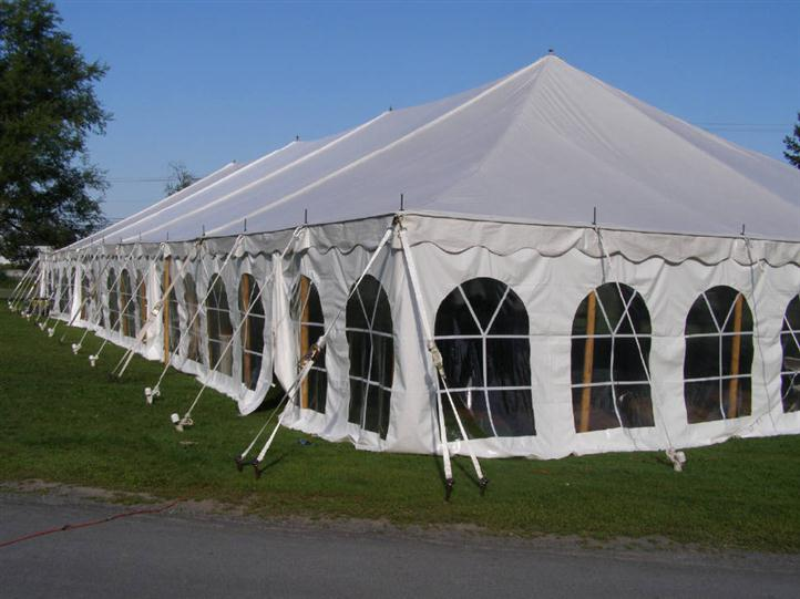 Party event tent from the exterior view.
