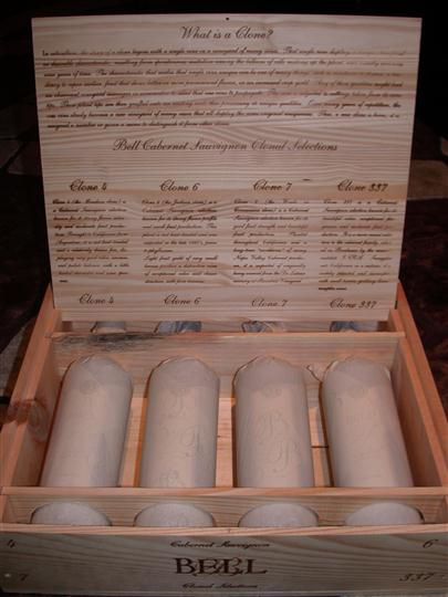 Wine wrapped in wooden crate
