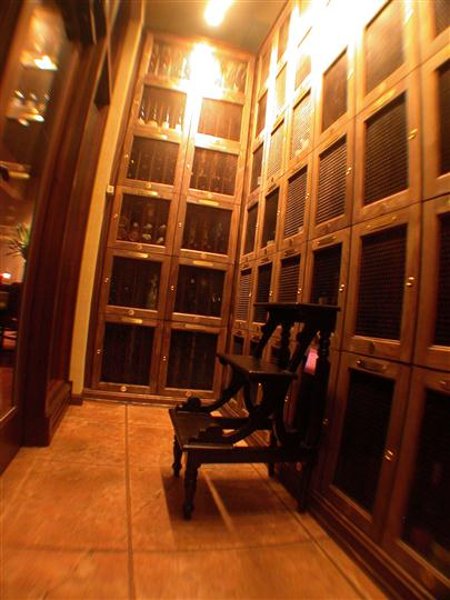 Wine Cellar with metal step ladder