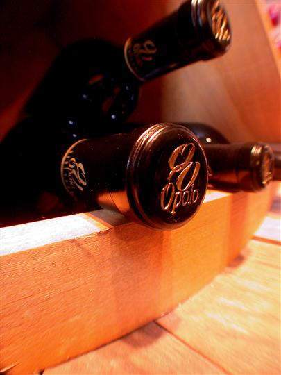 Opolo Wine in wooden shelf